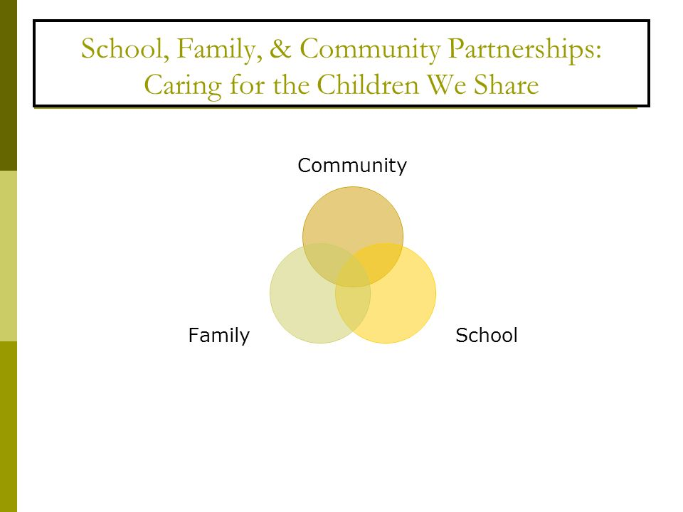 School, Family, & Community Partnerships: Caring for the Children We Share