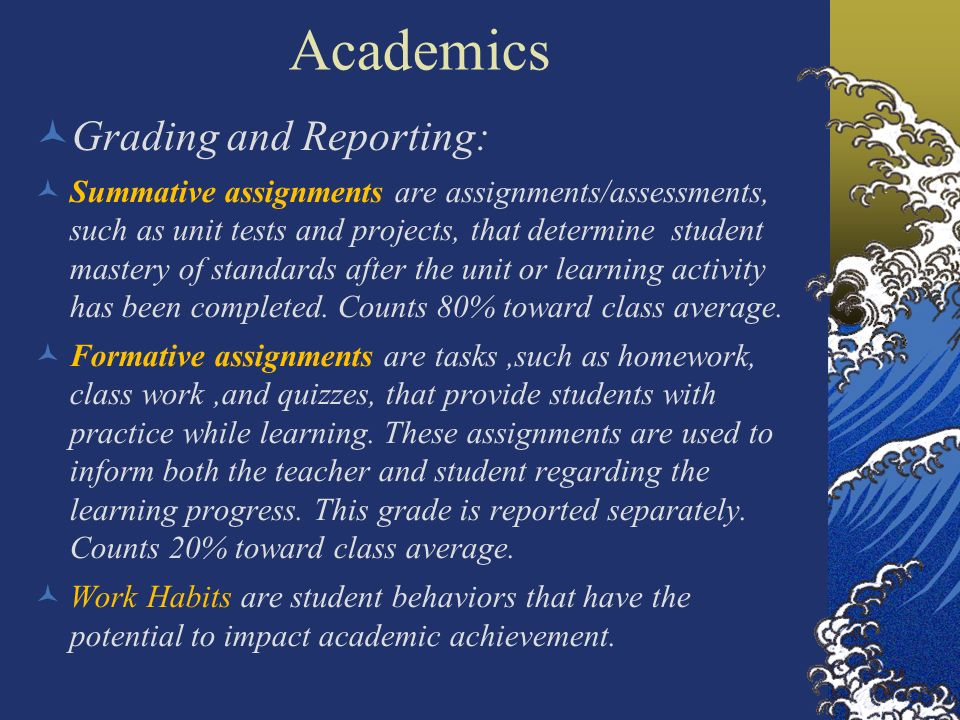 Academics Grading and Reporting: