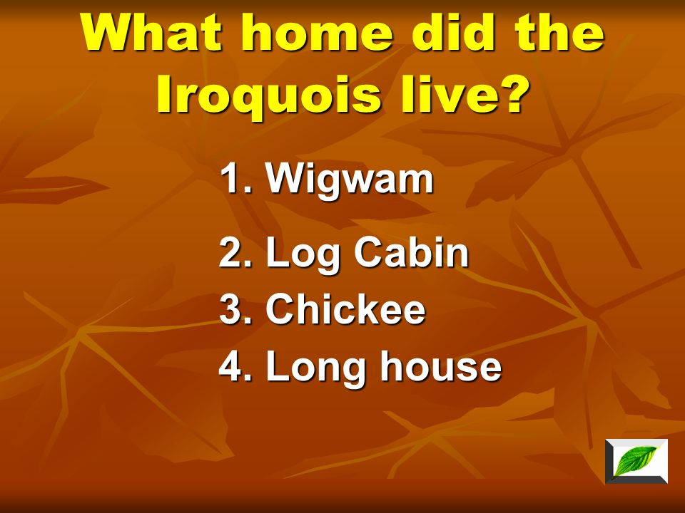 What home did the Iroquois live