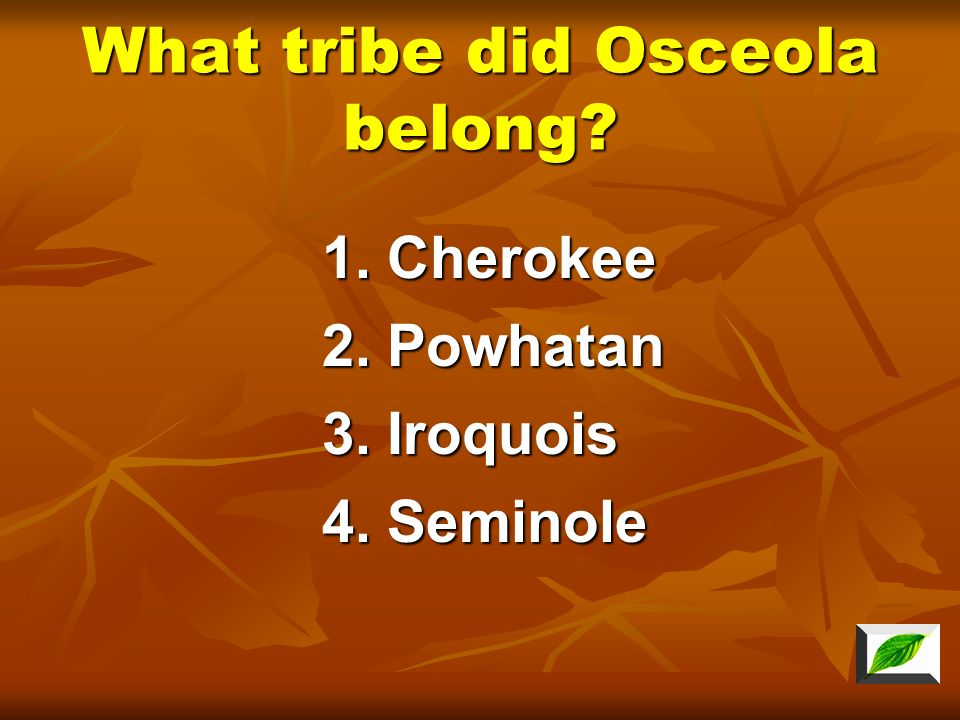 What tribe did Osceola belong