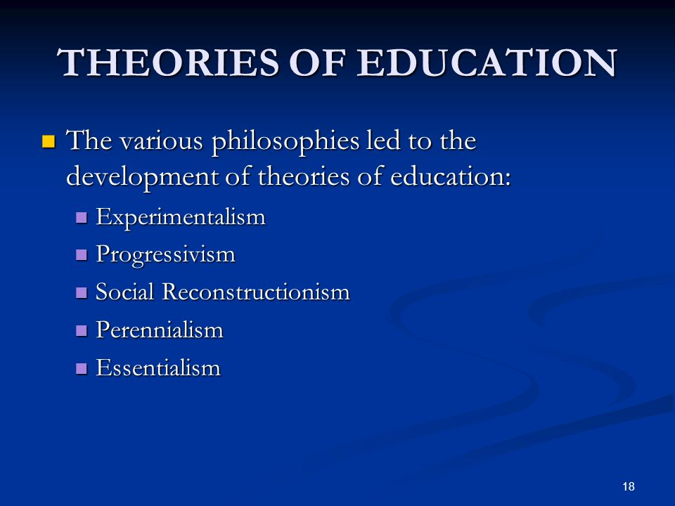 reconstructionism philosophy of education ppt