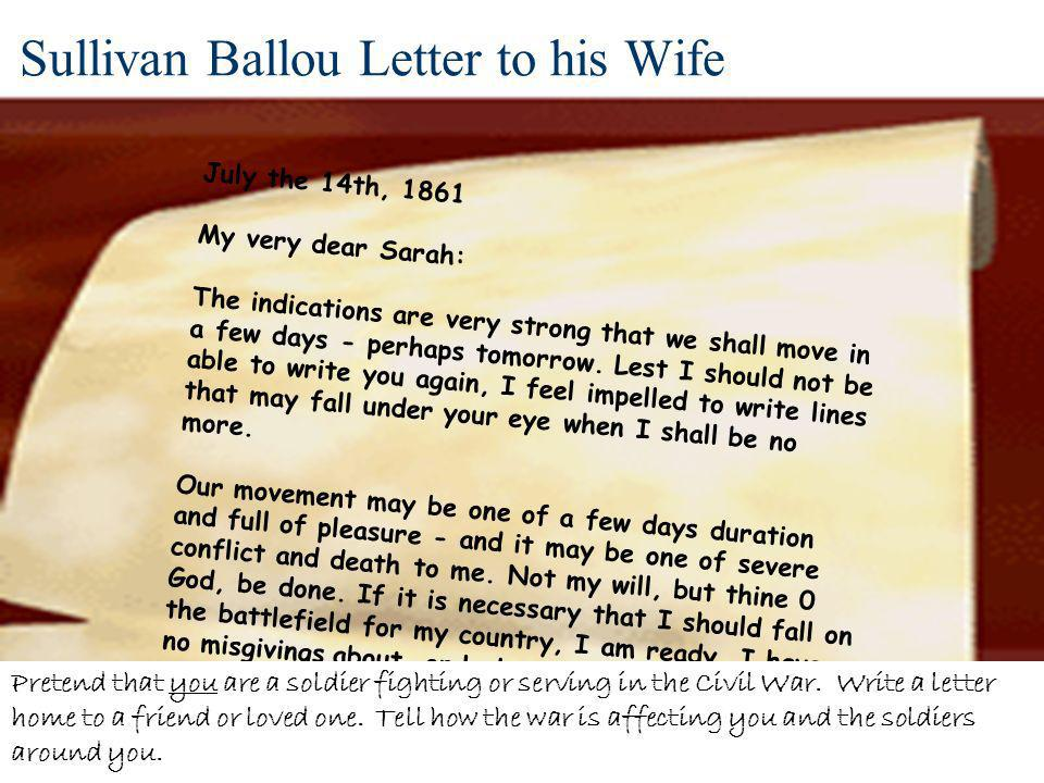 Sullivan Ballou Letter to his Wife