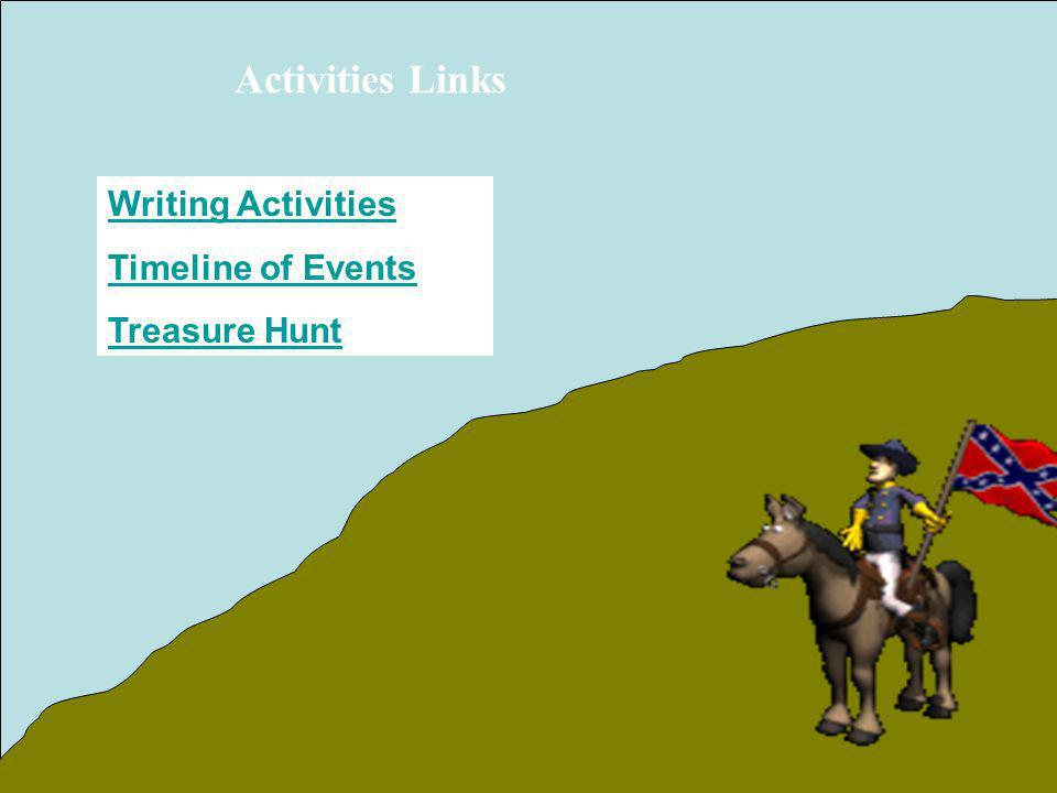Activities Links Writing Activities Timeline of Events Treasure Hunt