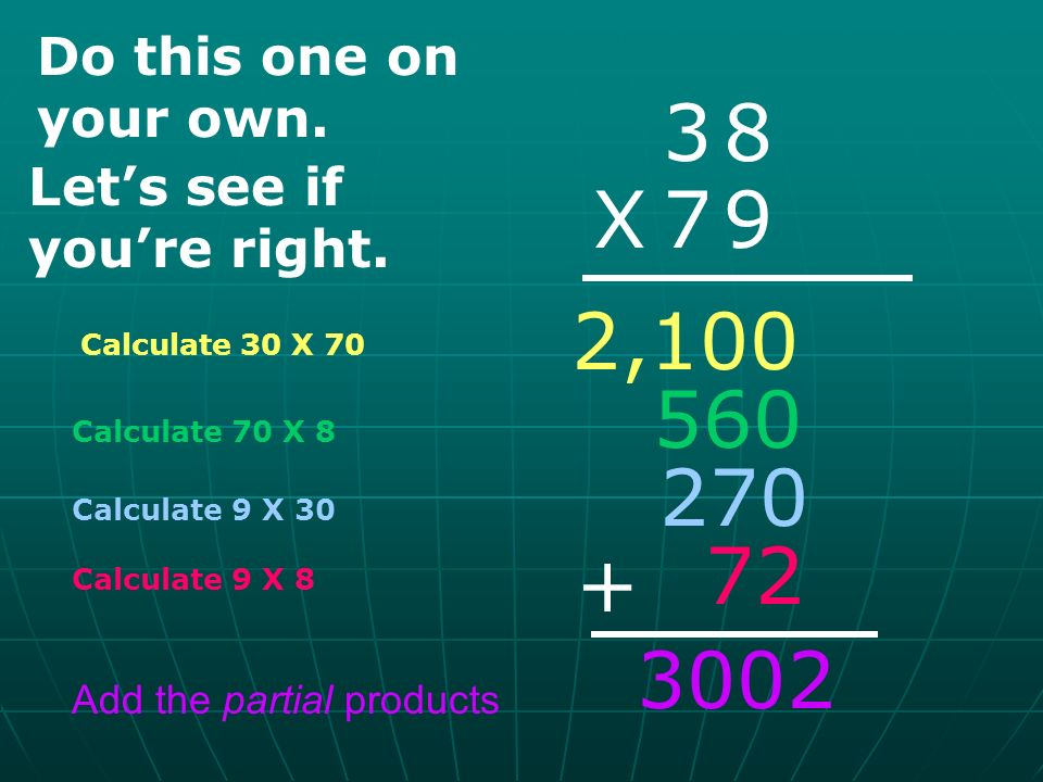 Partial Products for Multiplication - ppt download
