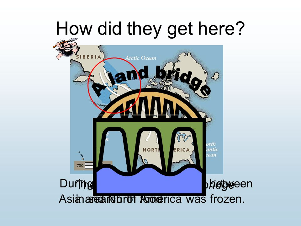 How did they get here A land bridge