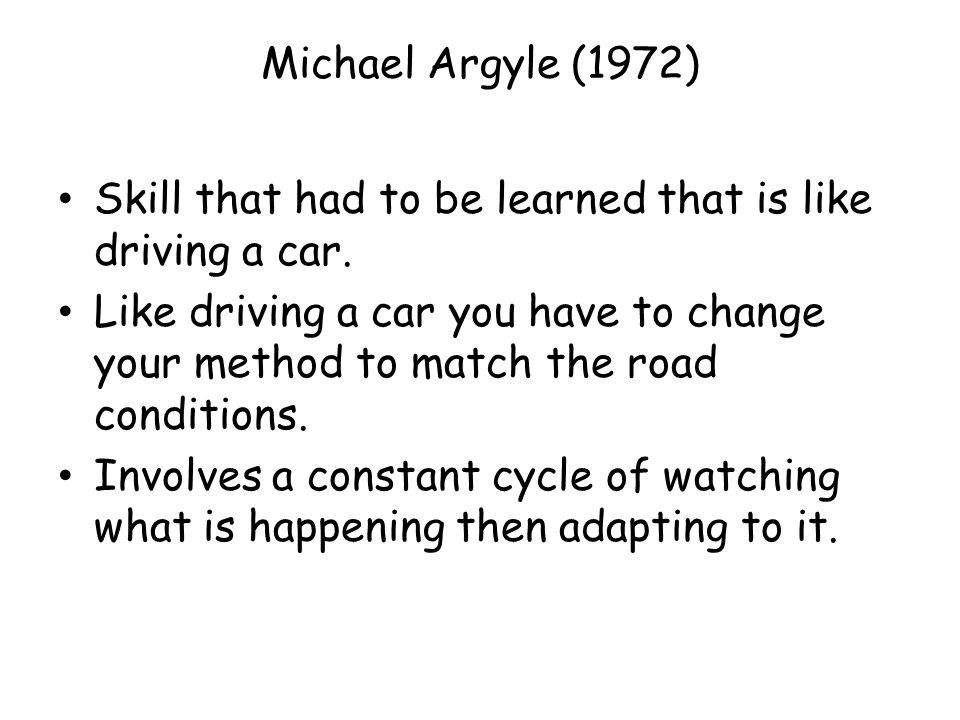 michael argyle communication cycle