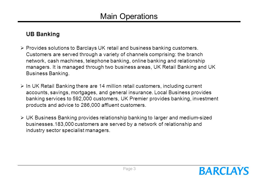 Background to Barclays Bank - ppt video online download