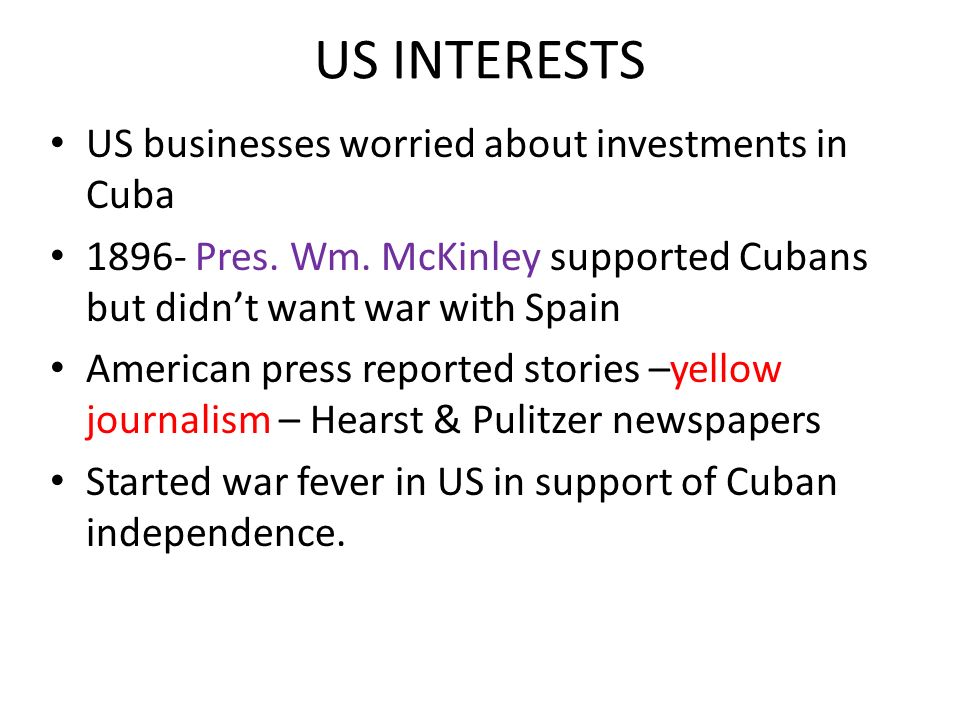 US INTERESTS US businesses worried about investments in Cuba