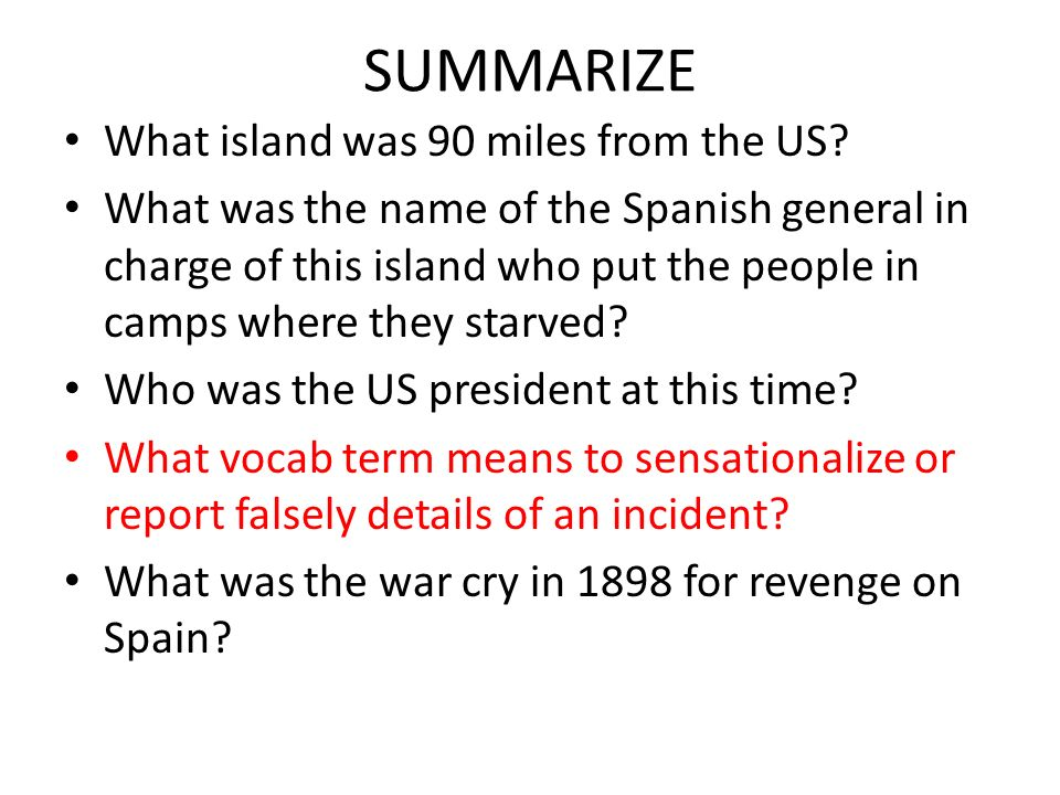 SUMMARIZE What island was 90 miles from the US