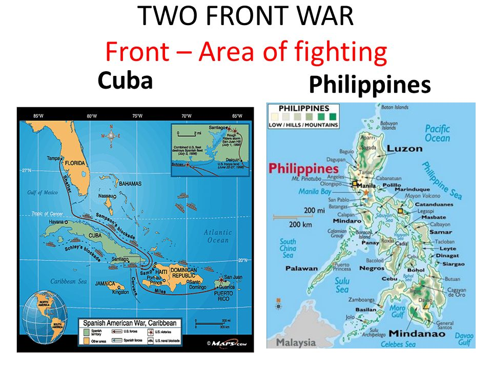 TWO FRONT WAR Front – Area of fighting