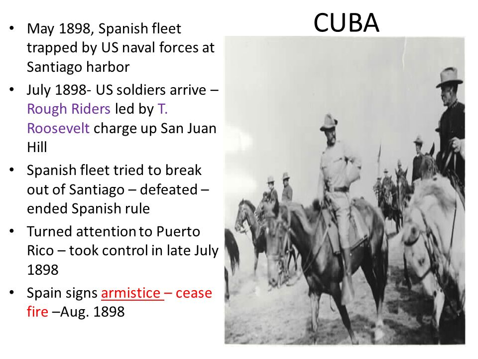 CUBA May 1898, Spanish fleet trapped by US naval forces at Santiago harbor.