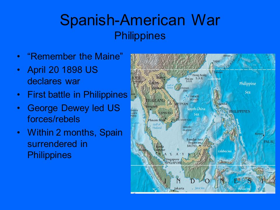 Spanish Philippines Map.The Spanish American War Ppt Download