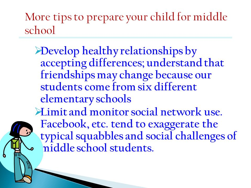 More tips to prepare your child for middle school