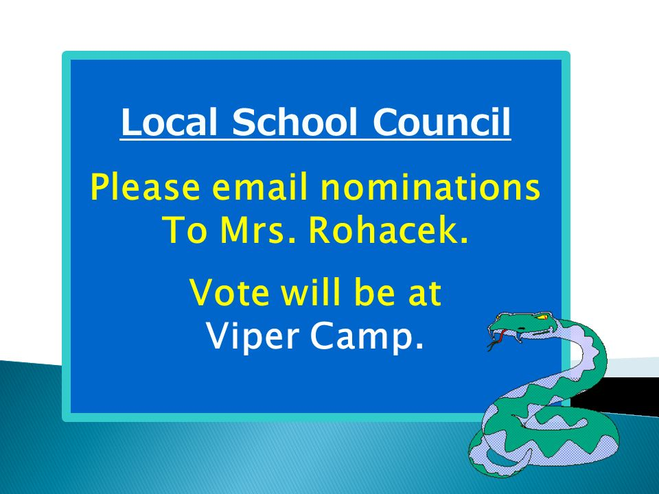 Please email nominations