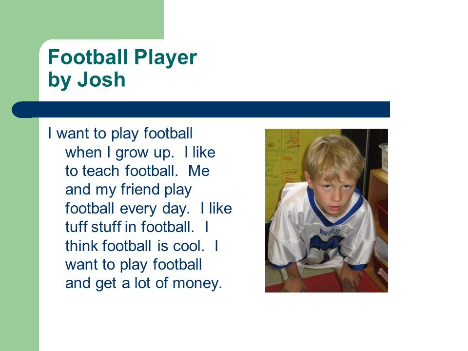 Football Player by Josh