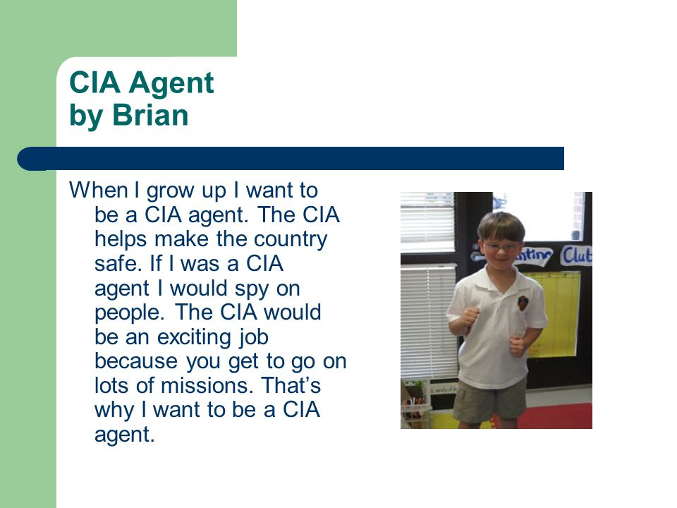 CIA Agent by Brian