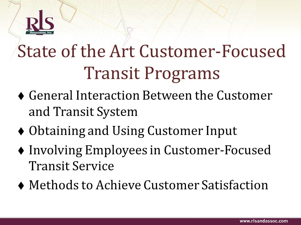 State of the Art Customer-Focused Transit Programs