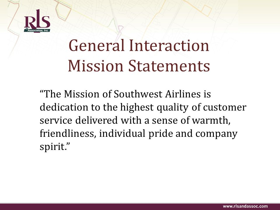 General Interaction Mission Statements