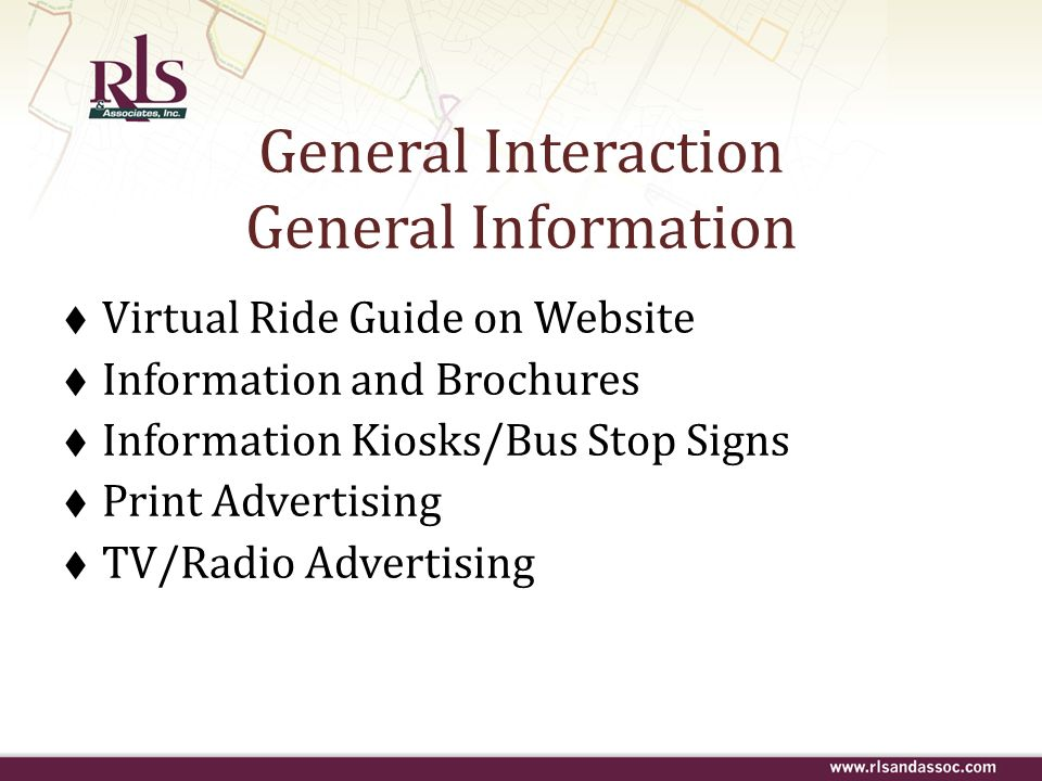 General Interaction General Information