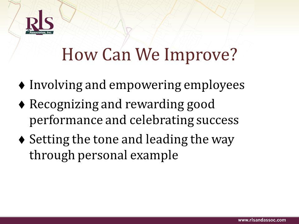 How Can We Improve Involving and empowering employees