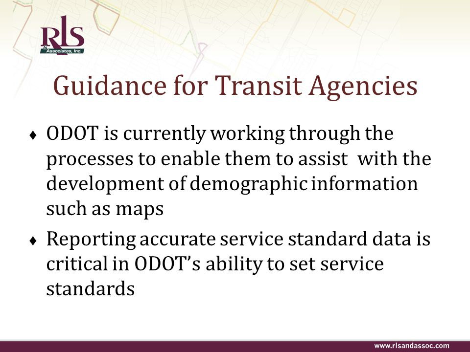 Guidance for Transit Agencies