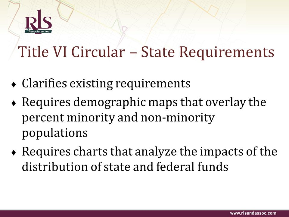 Title VI Circular – State Requirements
