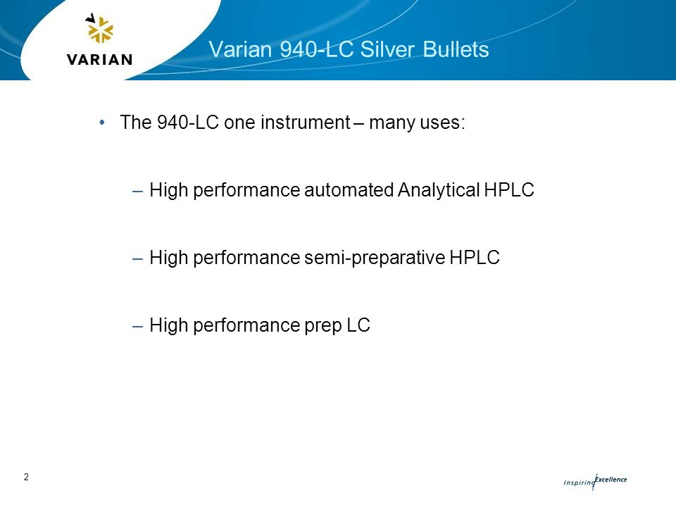 Varian 940-LC Analytical to Prep HPLC - ppt video online