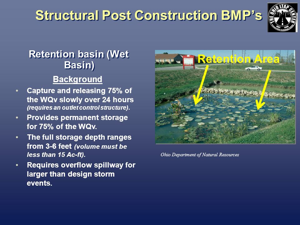 Structural Post Construction BMP's