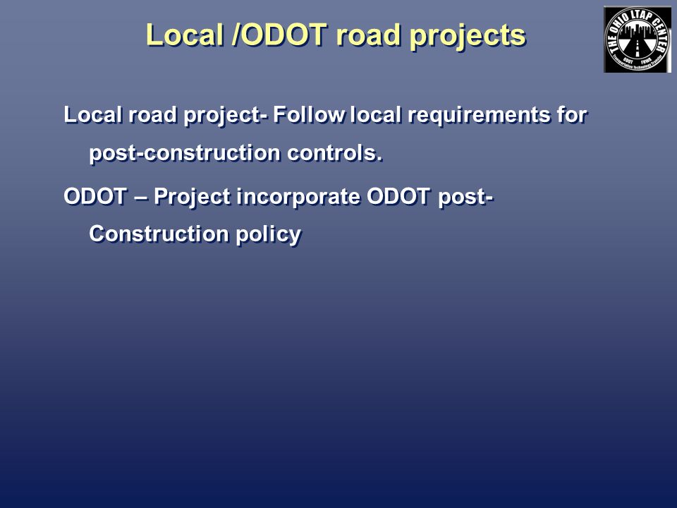 Local /ODOT road projects