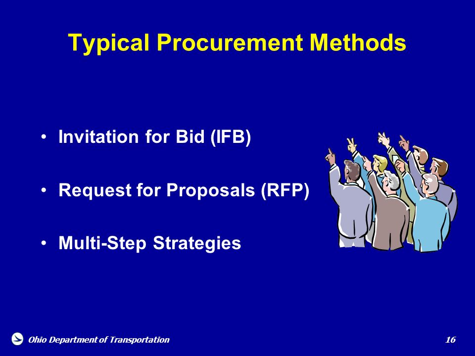 Typical Procurement Methods
