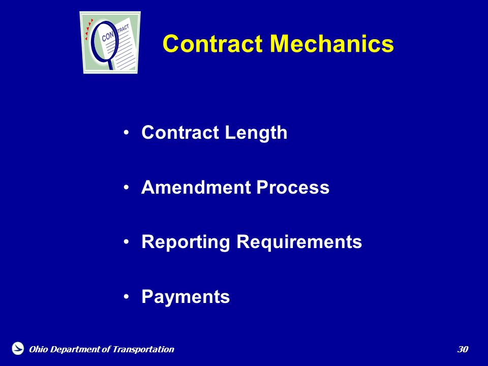 Contract Mechanics Contract Length Amendment Process