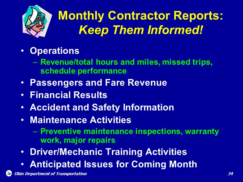 Monthly Contractor Reports: Keep Them Informed!