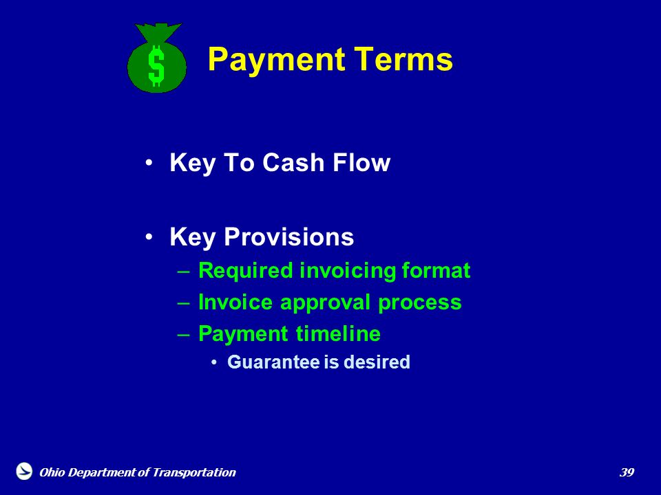 Payment Terms Key To Cash Flow Key Provisions