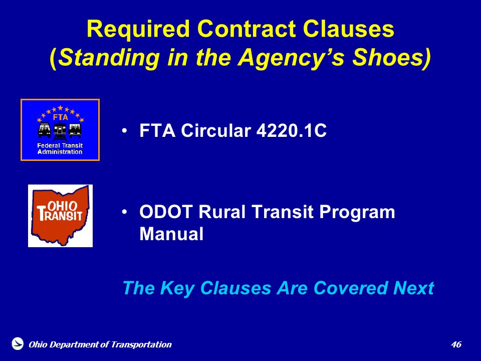 Required Contract Clauses (Standing in the Agency's Shoes)