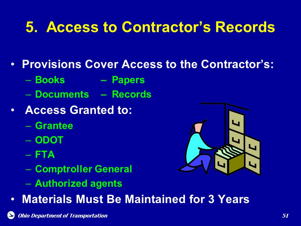 5. Access to Contractor's Records