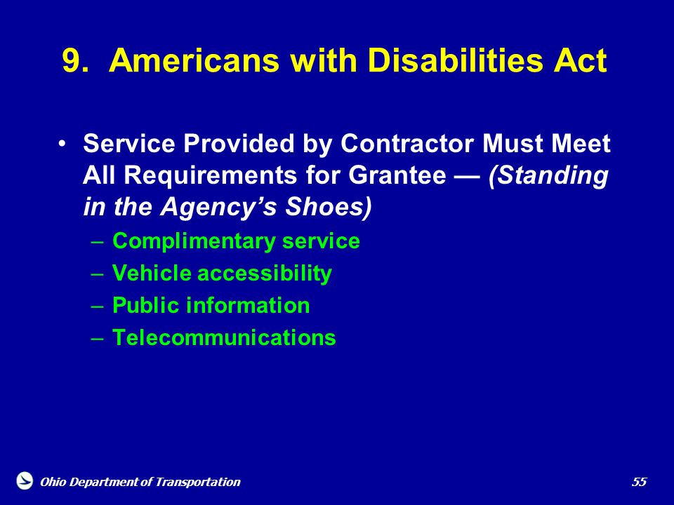 9. Americans with Disabilities Act