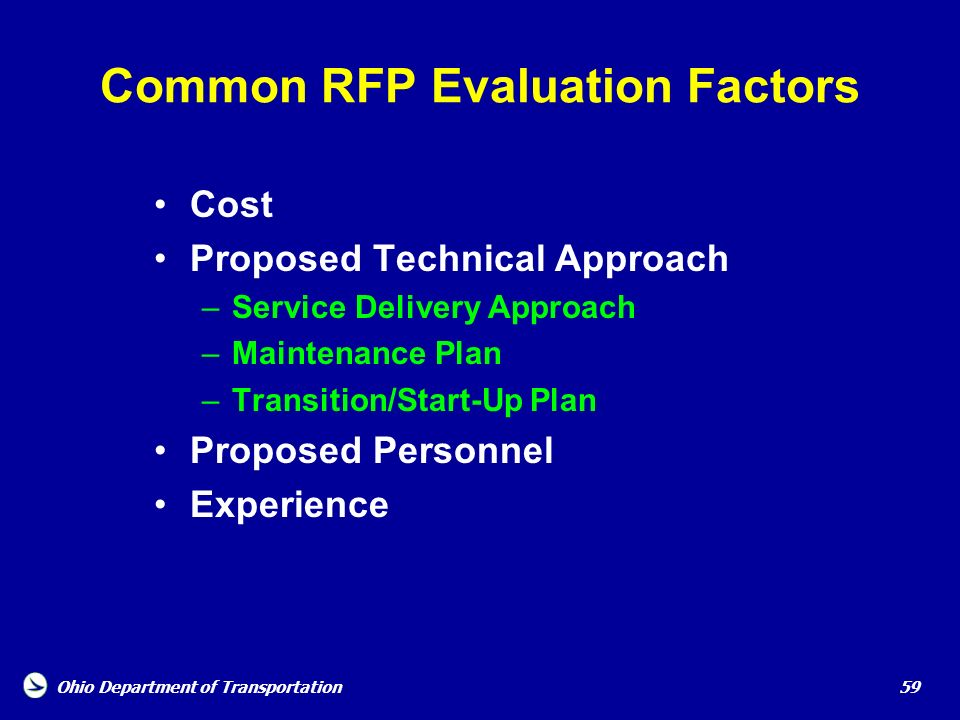 Common RFP Evaluation Factors