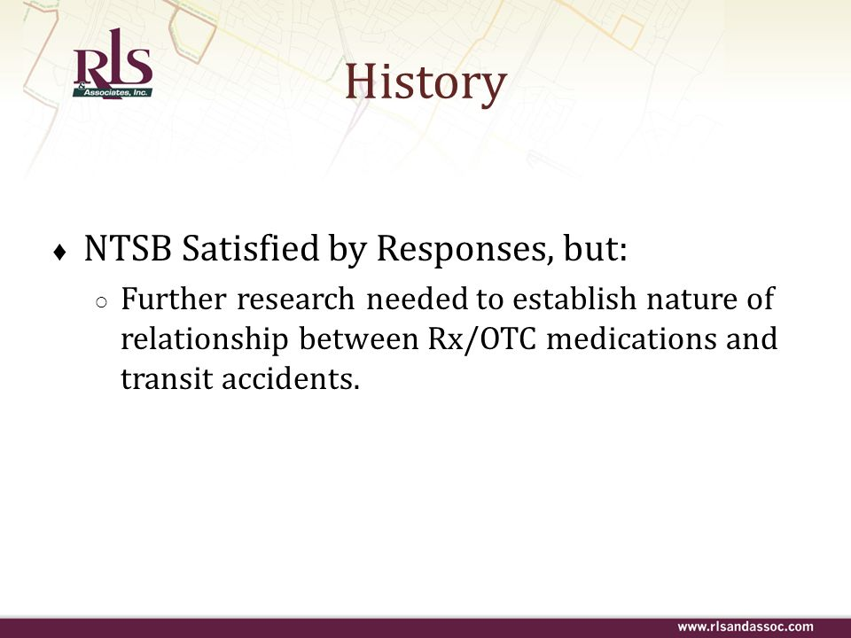 History NTSB Satisfied by Responses, but: