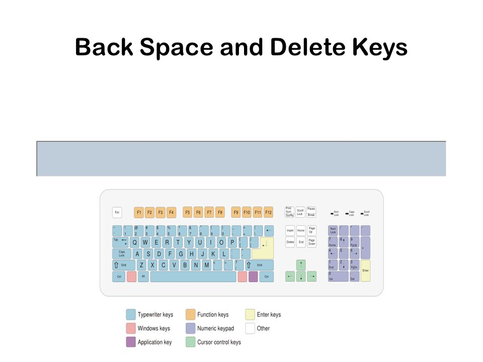 Back Space and Delete Keys