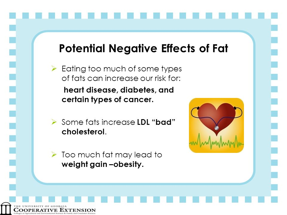 Potential Negative Effects of Fat