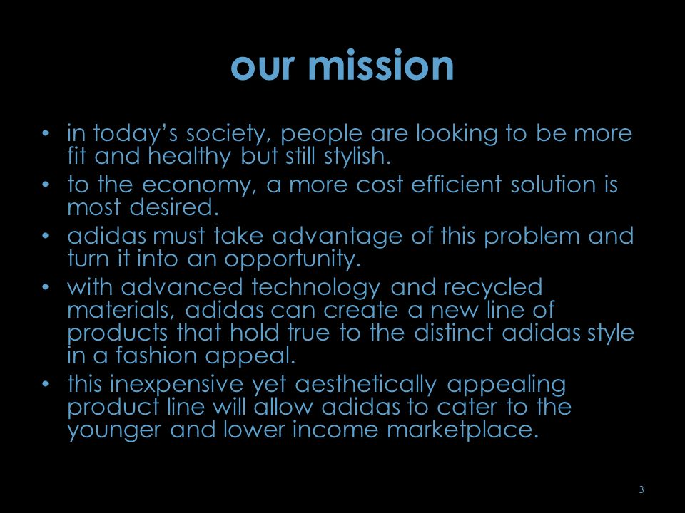 adidas: eco-friendly line - ppt video online download