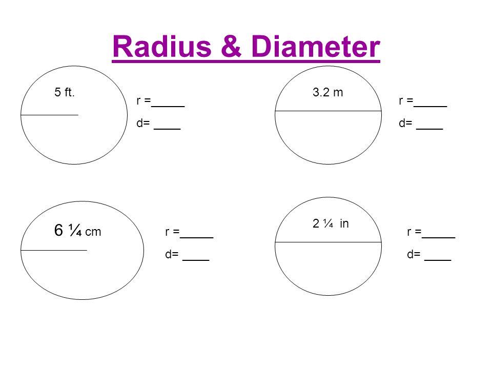 3 Radius Diameter 6  C2 Bc Cm 5 Ft