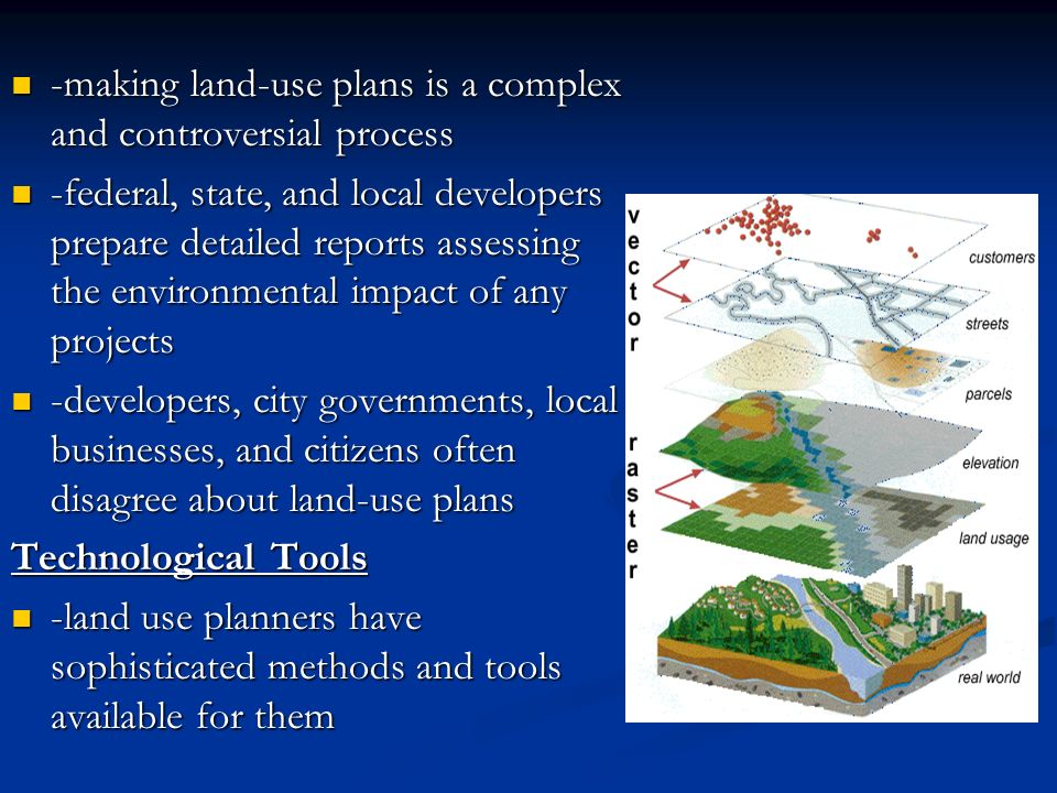 -making land-use plans is a complex and controversial process
