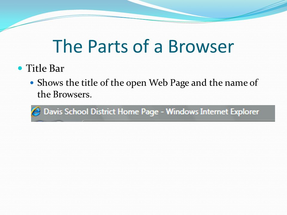 The Parts of a Browser Title Bar