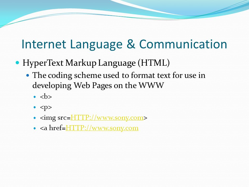 Internet Language & Communication