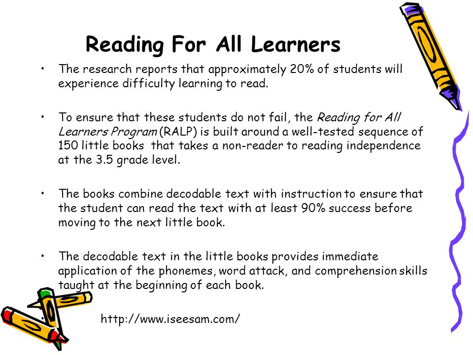 Reading For All Learners
