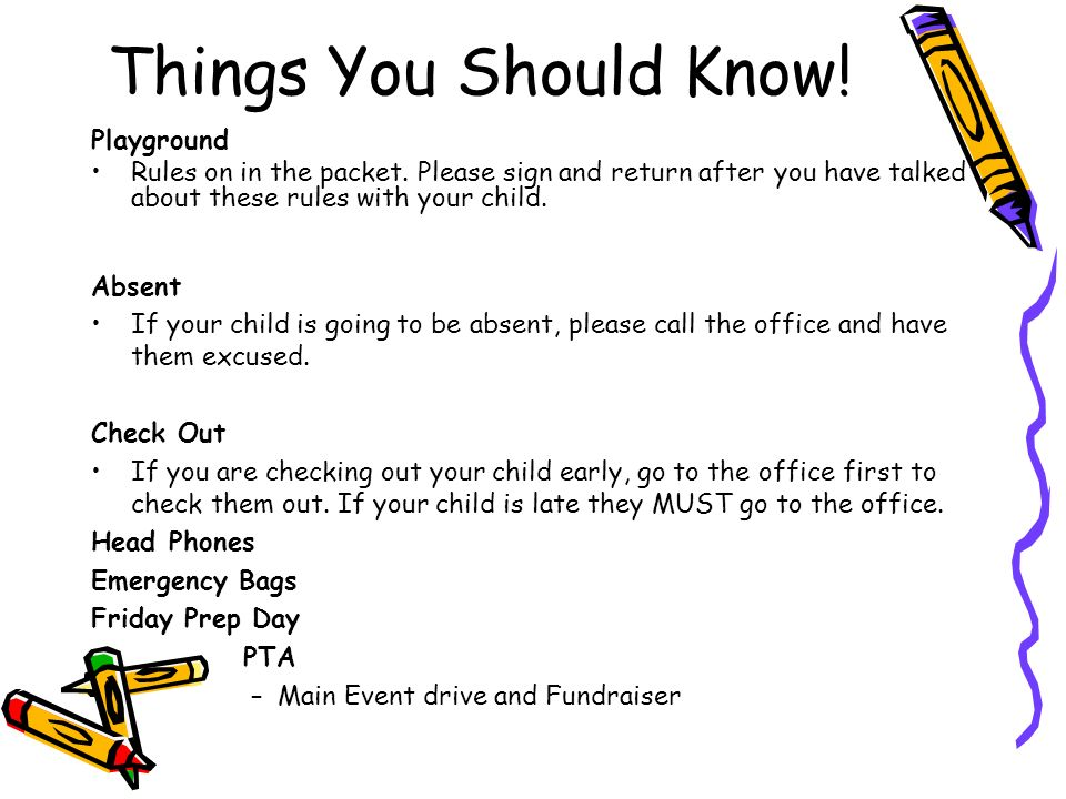 Things You Should Know! Playground