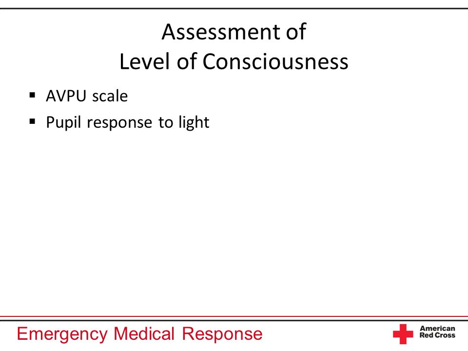 Assessment of Level of Consciousness