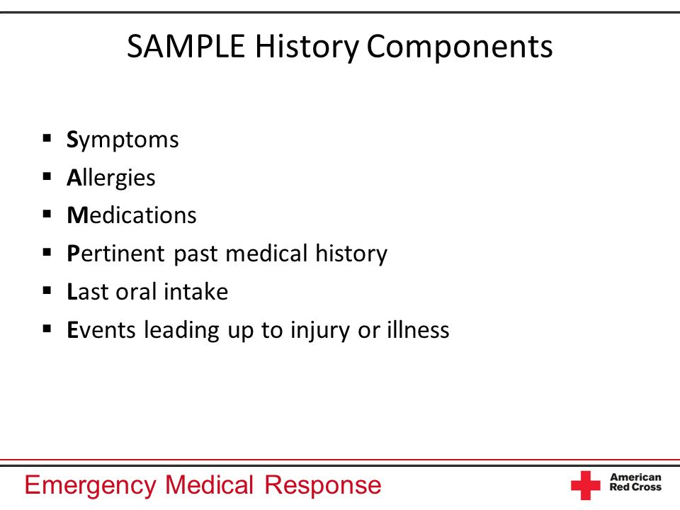 SAMPLE History Components