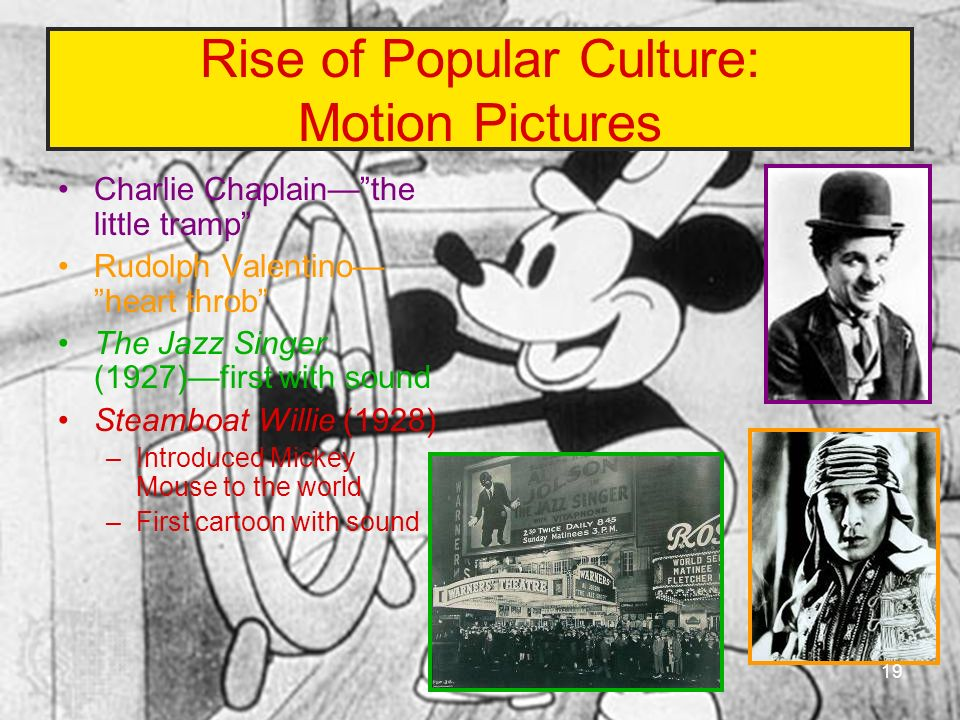 Rise of Popular Culture: Motion Pictures